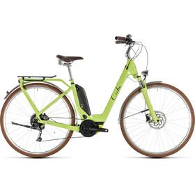 Cube Elly Ride Hybrid 400 Bicicletta elettrica da città Easy Entry verde